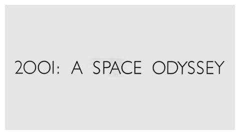 2001: A Space Odyssey (1968) movie title