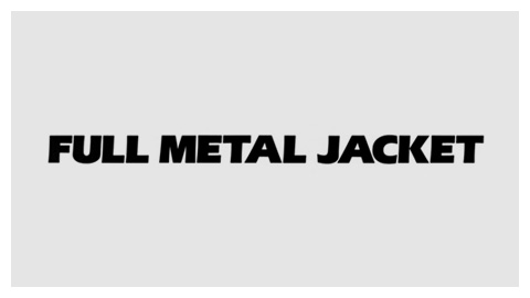 Full Metal Jacket (1987) movie title