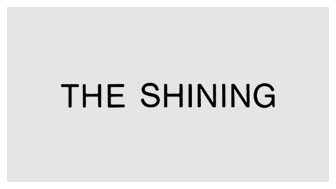 The Shining (1980) movie title