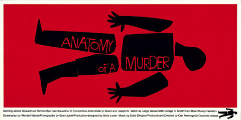 Saul Bass Anatomy of a murder (1959) 24 sheet movie poster