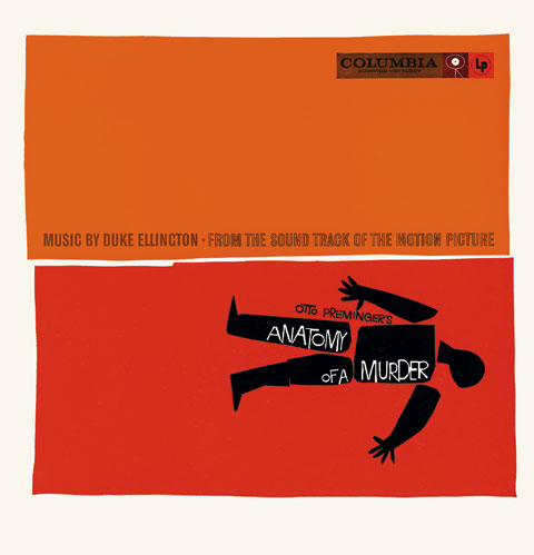 Saul Bass Anatomy of a murder (1959) Album cover