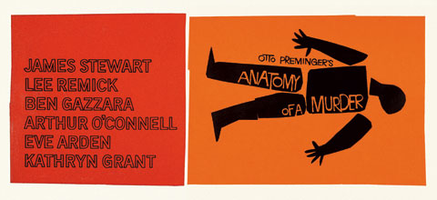 Saul Bass Anatomy of a murder (1959) Billboard