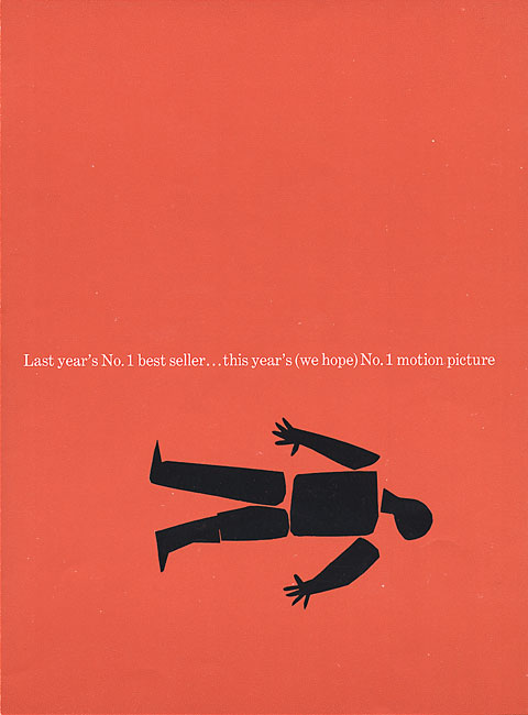 Saul Bass Anatomy of a murder (1959) Trade ad