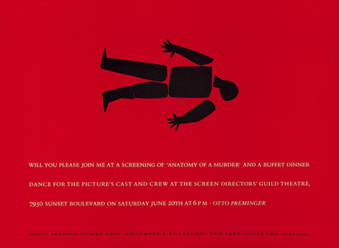 Saul Bass Anatomy of a murder (1959) Invitation