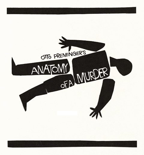 Saul Bass Anatomy of a murder (1959) Teaser ads