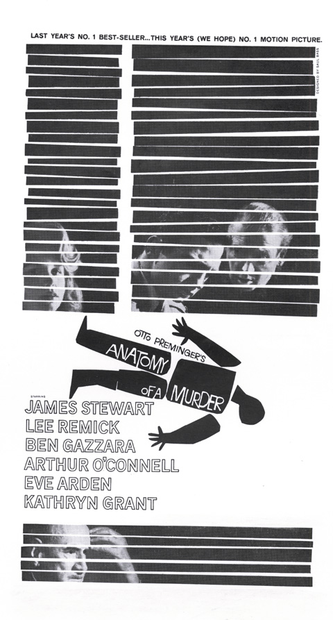 Saul Bass Design For Anatomy Of A Murder Annyas Design Blog