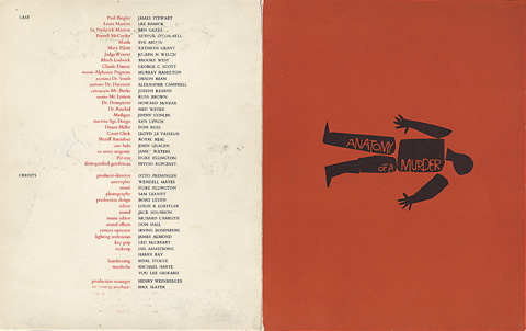 Saul Bass Anatomy of a murder (1959) Screening program