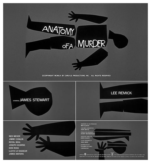 Saul Bass Anatomy of a murder (1959) title sequence
