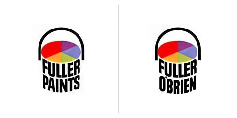 Saul Bass logo Fuller paints 1963