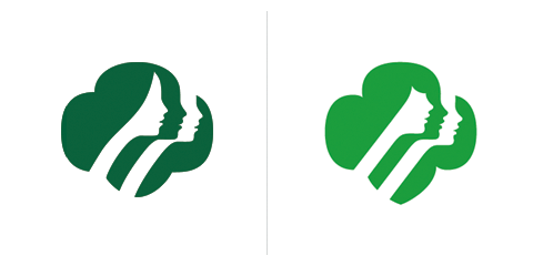 Saul Bass logo Girl scouts 1978