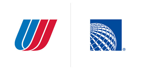Saul Bass logo United Airlines 1973