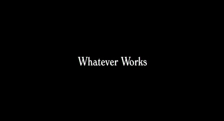 Whatever Works (2009) Woody Allen - blu-ray movie title