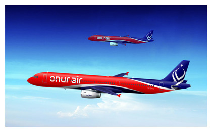 Onur Air aircraft livery design concept