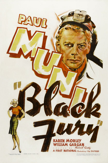 Black fury 1935 one sheet poster