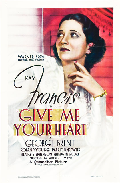 Give me your heart 1936 one sheet poster