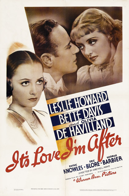 It's love I'm after 1937 one sheet poster