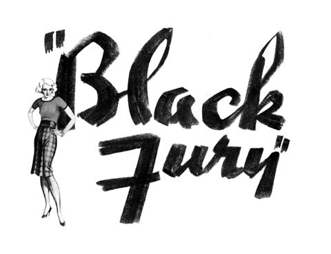 Black fury 1935 poster detail