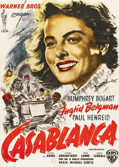Casablanca 1952 German movie poster