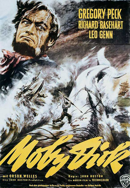 Moby Dick 1956 German movie poster