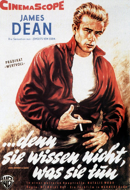 Rebel without a cause 1956 German movie poster