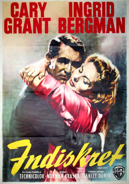 Indiscreet 1958 German movie poster