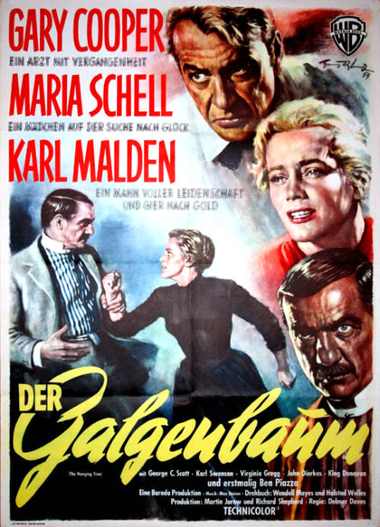 The hanging tree 1959 German movie poster