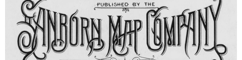 Sanborn map company logo and lettering