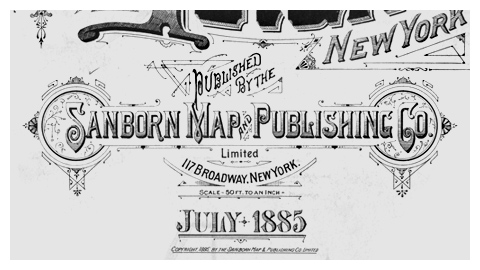 Sanborn map company logo and lettering on sanborn insurance maps, sanborn maps chicago, sanborn fire company, sanborn fire maps,