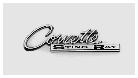 Chevrolet Corvette Sting Ray 1963 chrome script emblem