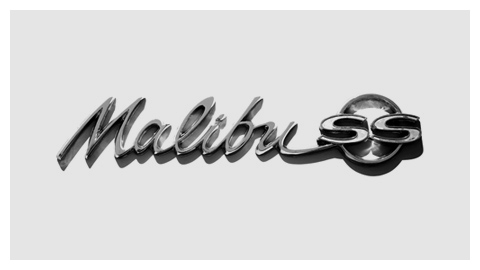 Chevrolet Malibu 1964 chrome script badge