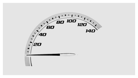 Chevy HHR 2008 speed meter design