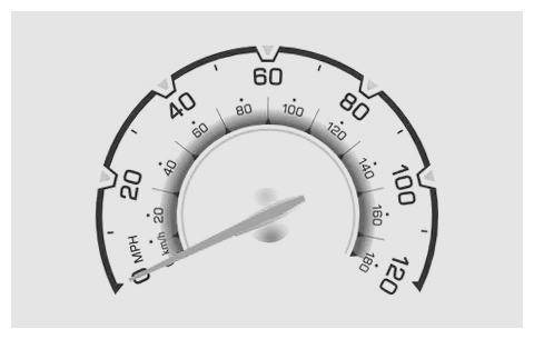 Chevy Spark 2010 speed meter