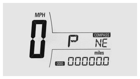 Chevy Sonic 2011 speed meter