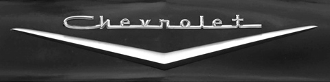 Chevrolet chrome script lettering