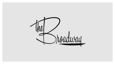 The Broadway 1960s wordmark