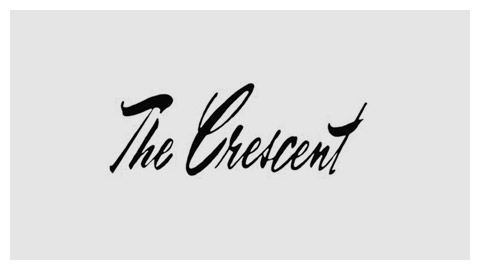 The Crescent 1970s handlettered logo