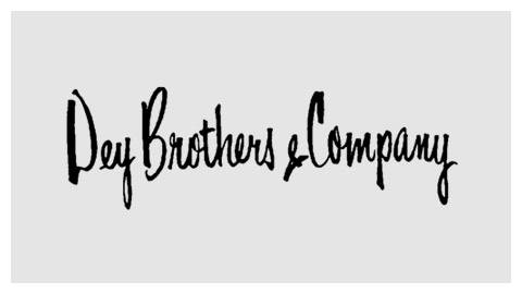 Dey Brothers 1960s handlettered logo