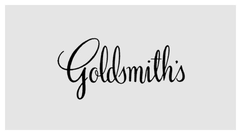 Goldsmith's handlettered logo
