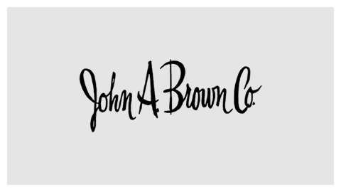 John A. Brown 1960s handlettered logo