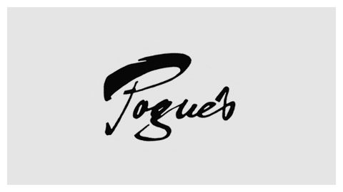 Pogue's 1970s handlettered logo