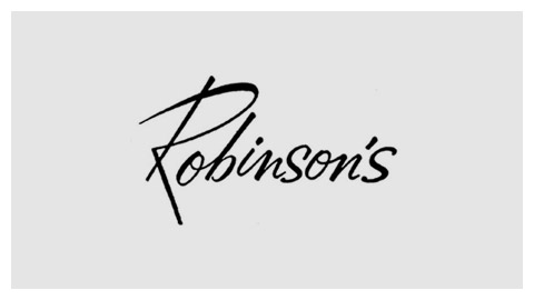 J. W. Robinson Co. 1960s handlettered logo