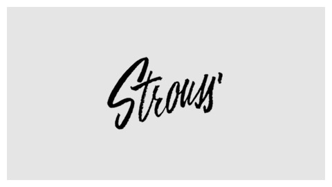 Strouss 1960s handlettered logo