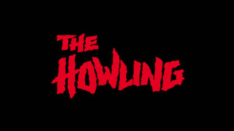The howling 1981 movie poster lettering