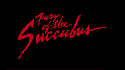 The fury of the succubus 1982 movie poster lettering