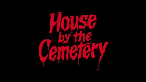 House by the cemetery 1984 movie poster lettering