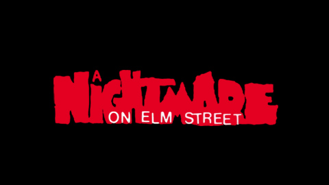Nightmare on Elm Street 1984 movie poster lettering