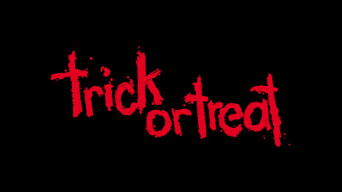 Trick or treat 1986 movie poster lettering