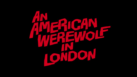 An American werewolf in London 1981 movie poster logo