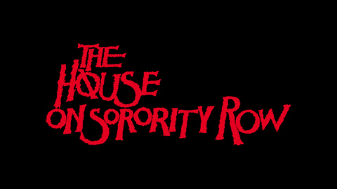 The house on Sorority Row 1983 movie poster typography