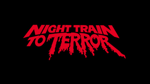 Night train to terror 1985 movie poster typography